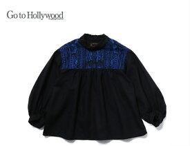 2020 A/W Go to Hollywood ゴートゥーハリウッド 1208104メンアサワッシャー モリノシシュウ ブラウス【01(150)〜02(160)】【2 ブラック】