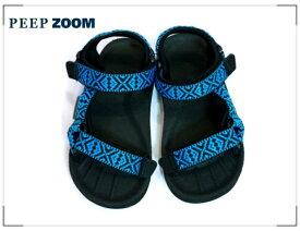 ZOOM(ズーム) Velcro サンダル 1712【15cm~22cm】【ブルー】