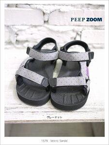 ZOOM(ズーム) Velcro サンダル 1579【15cm~20cm】【グレードット】