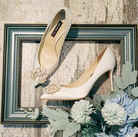 パンプス ハイヒール シルク 本革 ラインストーン ヒール高さ3種類 キラキラ 上品 ポインテッドトゥ 美脚效果 可愛い 脚が長く見える おしゃれ ゴージャス 美しい パーティ 結婚式 人気 女子会