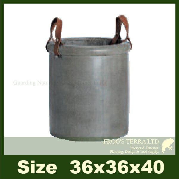 GH041(直径36cm×H40cm)(底穴なし)(セメント/ジュートファイバー)(プランター/ポット)(観葉鉢/園芸/寄せ植え