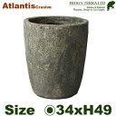 アトランティスクルーシブルM・FS6068AM・Atlantis(直径34cm×H49cm)(底穴あり)(陶器製)(観葉鉢)