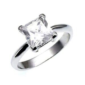 【クーポンで10%OFF】【ニューヨークから届く!】指輪 レディース プラチナ 加工 一粒 プリンセスカット 婚約指輪 エンゲージリング プロポーズ 結婚指輪 誕生日 プレゼント 結婚記念日 女性