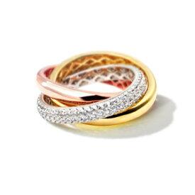 【クーポンで15%OFF】【ニューヨークから届く!】カルティエ スタイル 3連リング 指輪 レディース ピンクゴールド 加工 3連リング 婚約 結婚 誕生日 プレゼント 結婚記念日 女性 彼女 妻 嫁 金属アレルギー シンプル