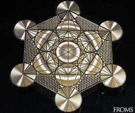 古代神聖幾何学 メタトロン キューブ フルーツオブライフエナジーカード 幸運 開運