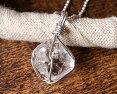Silver925ハーキマーダイヤモンドAAA原石ペンダントネックレスニューヨーク州スピリチュアル天然石約12mm全長約21mm一点物新商品ポイント10倍9end