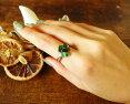 宝石質クロムダイオプサイト5石合計1.68ctSilver925リング指輪【送料無料】サイズ変更無料透輝石新商品ポイント10倍SALE