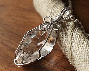 Silver925 ハーキマーダイヤモンド AAA 原石 ペンダント ネックレス ニューヨーク州 スピリチュアル 天然石 一点物 新商品 Lサイズ 送料無料 ハーキマー ギャランティーカード付