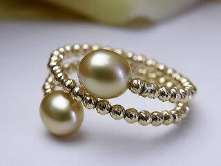 真珠リング送料無料K18南洋ケシリングパールジュエリー入学式真珠婚30年おすすめ品金色ケシ上品人気記念日