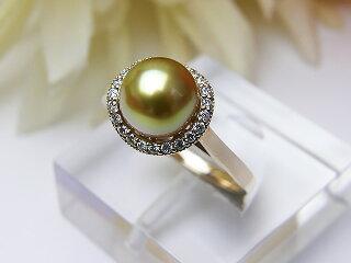真珠リング送料無料K18PG南洋金色リングパールジュエリー入学式真珠婚30年成人式高品質ゴールド南洋金色1点限りあこや真珠淡水真珠誕生日