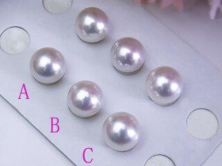 真珠ペアルース送料無料あこや9ミリペアルース真珠パールプレゼント真珠婚アコヤイヤリングピアス直付け用