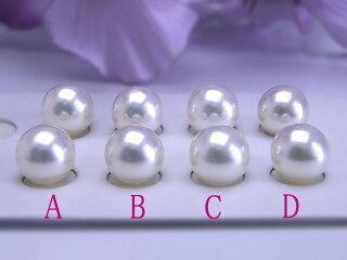 真珠ペアルース送料無料あこや無調色8.5ミリペアルース真珠パールプレゼント真珠婚アコヤイヤリングピアス直付け用