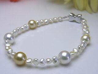 真珠ブレス送料無料あこや真珠&あこやケシブレスレットパールジュエリー入学式真珠婚30年おすすめ品可愛いプレゼント人気誕生日