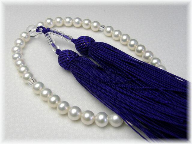 西陣織の袱紗サービス故人を偲ぶ真珠の念珠 【smtb-k】 【kb】