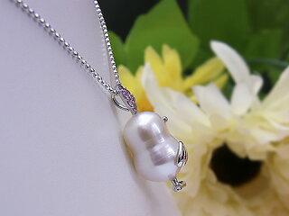ほなな通貨コーナーの商品淡水真珠ピンクサファイアチーウーペンダントパールジュエリー真珠婚30年可愛いピンクプレゼントお祝い人気