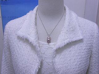 ほなな通貨コーナーの商品淡水チーウーペンダントパールジュエリー真珠婚30年冠婚葬祭ルビープレゼントお祝い人気