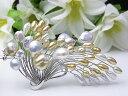 真珠ブローチ 送料無料fromseaの究極のパールブローチ『 流和 』パール ジュエリー 入学式 真珠婚 30年 おすすめ品 淡水真珠 あこや…
