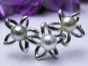 真珠ブローチ 送料無料作りがイイよ 珠も良い♪ あこやナチュラルフラワー ブローチパール ジュエリー 入学式 真珠婚 30年 おすすめ…