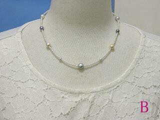 真珠ネックレス送料無料絶妙なバラバラさ『絶バラネックレス』シルキースペシャル