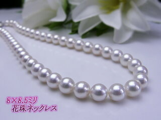 あこや真珠フォーマル送料無料真珠科学研究所鑑別書付き花珠あこや8×8.5ミリネックレスS482570