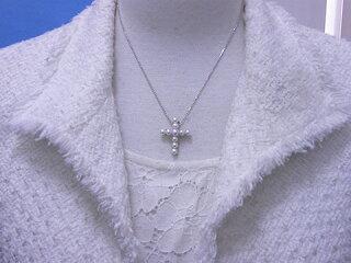 真珠ペンダント送料無料『予約販売クロスペンダント』