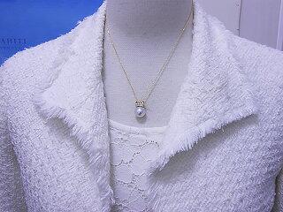 送料無料テリクロス付きSVあこや真珠うさちゃんペンダント※この商品はクーポン対象外です