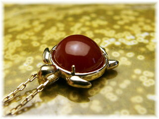 BijouxfromseaK18血赤珊瑚ペンダントTK-10108