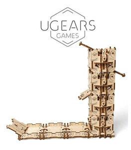 Ugears Modular Dice Tower ダイスタワー 木製 ブロック DIY パズル 組立 想像力 創造力 おもちゃ 70069 知育 ウッドパズル 3D 工作キット ロボタイム