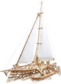 Ugears ユーギアーズ トリマランヨット 70059 Trimaran Merihobus ヨット 木のおもちゃ 3D立体 パズル 知育 ウッドパズル 工作キット 木製 模型 キット つくるんです