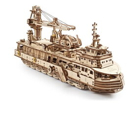 Ugears ユーギアーズ リサーチベッセル 70135 木製 ブロック DIY パズル 組立 想像力 創造力 おもちゃ 知育 ウッドパズル 3D 工作キット 木製 模型 キット つくるんです