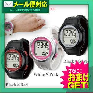 【定形外郵便全国送料無料】【さらに選べるおまけ付き】【山佐時計計器】【TM-500】ウォッチ万歩計(DEMPA MANPO) - 電波時計内蔵・腕時計型万歩計【smtb-s】
