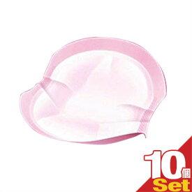 【母乳パッド/授乳パット】ジェクス(JEX) チュチュベビー(chuchubaby) ミルクパッド エアリー(milk pad airy) 素肌感覚のつけごごち 1枚入り×10個セット - 新立体構造で、しっかりフィット。装着カンタン。しっかり吸収、逆戻りしにくい