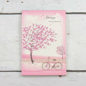 はがき箋 桜と自転車 フロンティア デザイン おしゃれ 大人