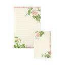 レターセット ピンクローズ フロンティア 大人 デザイン おしゃれ かわいい シンプル バラ柄 花柄