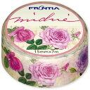 マスキングテープ Michieベラドンナ・サロン デザイン おしゃれ 大人 花柄 バラ柄 ローズ柄 クラシックローズ ボタニ…