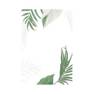 サマーポストカード 暑中 リーフ 無地|npc-270