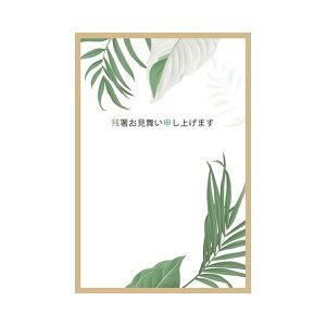 サマーポストカード 残暑 リーフ 茶|npc-272
