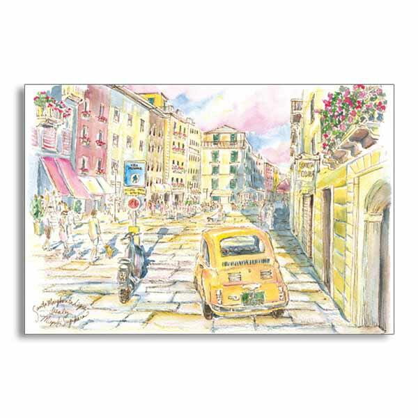ポストカード 南イタリアの街角 フロンティア デザイン おしゃれ 大人