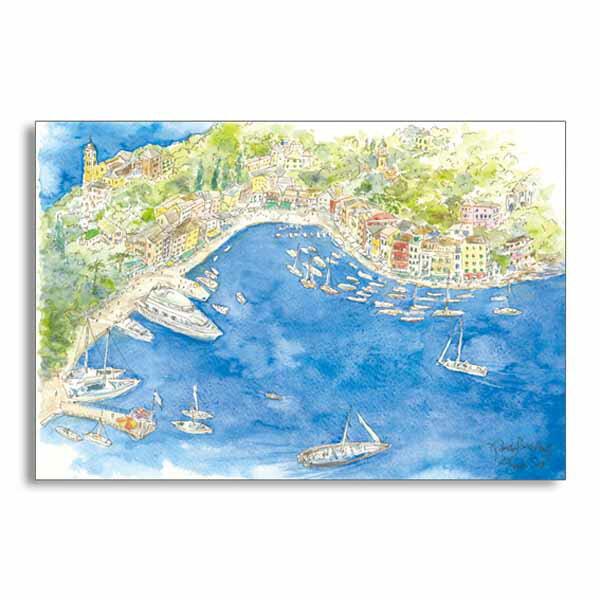ポストカード 北イタリアの港 フロンティア デザイン おしゃれ 大人