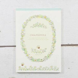 メモ帳 カモミール フロンティア メモ帳 花柄 デザイン おしゃれ 大人 かわいい