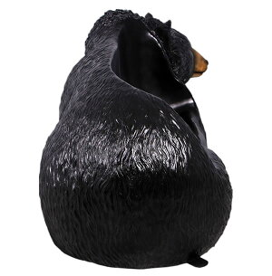 FRP黒クマのベンチ
