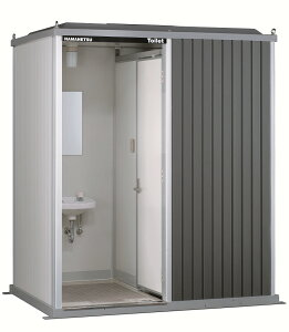【TU-EPMW エポックトイレ 屋外トイレユニット(左側手洗室タイプ) ハマネツ (手洗・洋式) 水洗タイプ】
