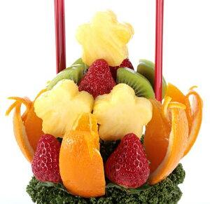 フルーツブーケ Fleurette (フルーレット) XSサイズ フルーツギフト 母の日 いちご 苺 お祝い サプライズ プレゼント 誕生日 結婚 記念日 結婚祝い インスタ映え 贈り物 スイーツ ケーキ 果物