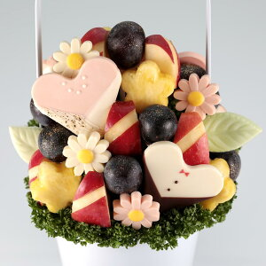 フルーツブーケ (秋) Mariage (マリアージュ) Mサイズ フルーツギフト お祝い サプライズ プレゼント 誕生日 結婚 記念日 結婚祝い インスタ映え 贈り物 スイーツ ケーキ 果物