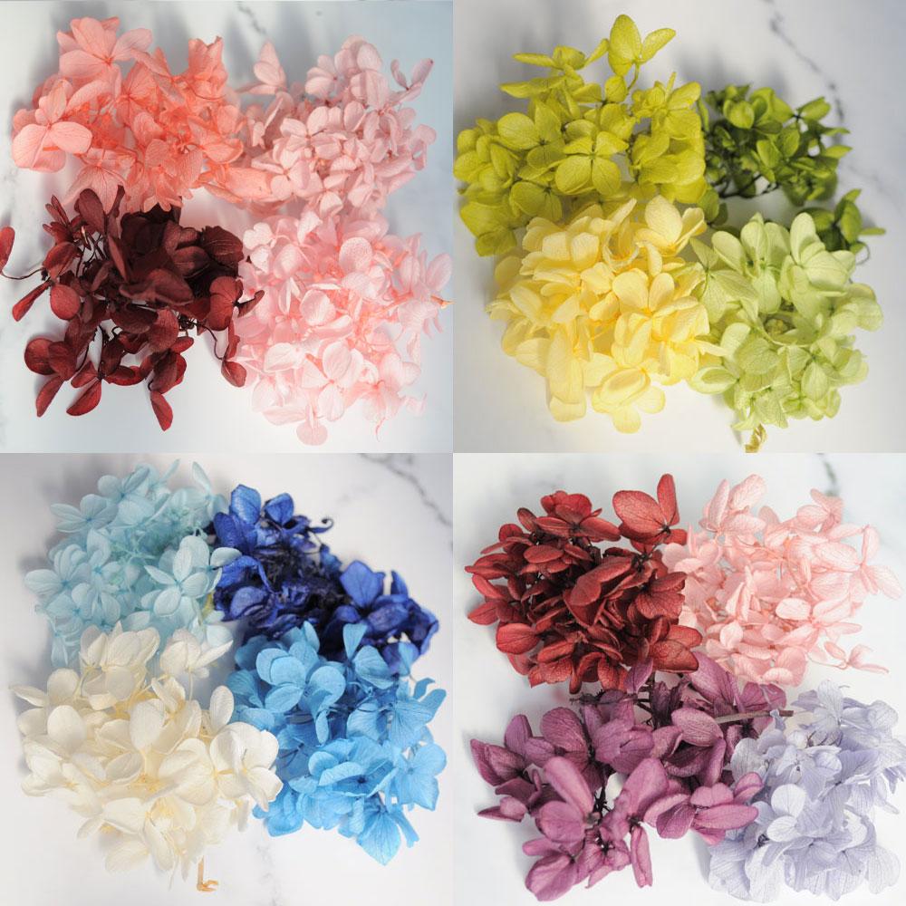 ハーバリウム 花材 あじさい 4色 セット キット プリザーブドフラワー 小分け ハンドメイド 手作り
