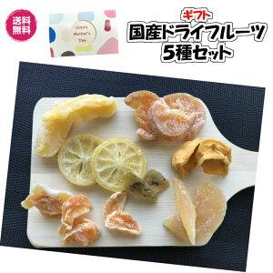 【送料無料】国産だけで作ったドライフルーツ5種ギフト国産 ドライフルーツ 時期の5種ギフト キウイフルーツ みかん いちご レモン 梨 りんご 清見オレンジの中から5種 ギフ