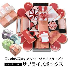 サプライズボックス 寄せ書き アルバム 手作り プレゼント ボックス 飛び出す かわいい 誕生日 記念日 サプライズ エキスプローディングボックス explodingbox explosionbox