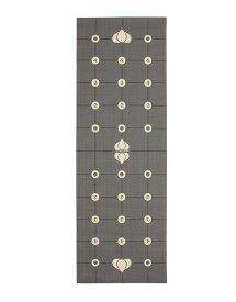 The Gurugrid グルグリッド スタンダードヨガマット 6Pフリー PVC 厚さ6mm グレー&イエロー