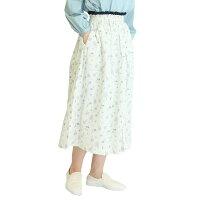 綿麻花柄ギャザースカート【SK2018193】【SUNVALLEYサンバレー】