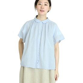 【SALE30%off】製品染め ボイル ギャザーシャツ 【SK5001196】【SUNVALLEY サンバレー】